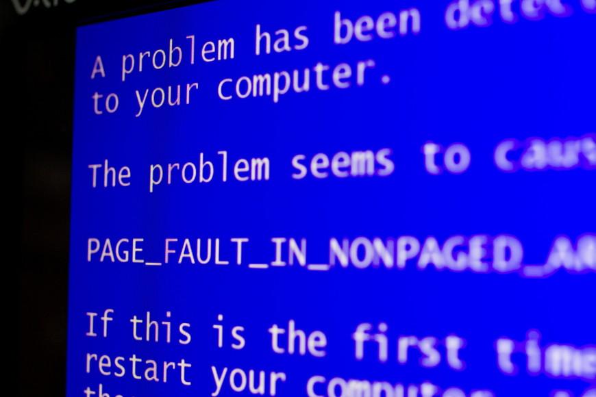 ブルースクリーンの画面は2種類
